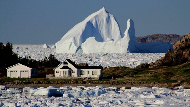 giant iceberg passes little harbor
